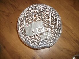 Brand new in wrapper white ceiling lightshade