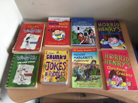 Quality bundle of kids reading books,job lot at only £10 as jokes &riddles book alone costs £10