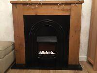 Beautiful solid oak fire suite