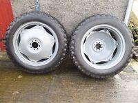 Massey Ferguson 135 Tractor Lawn Turf wheels complete set