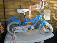 "RALEIGH 12"" WHEEL GIRLS BIKE HARDLY USED IN GREAT WORKING ORDER AGE 3+"