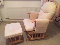 Nursing Glider Chair & Stool.