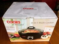 Cooks Professional 8 in 1 multi cooker slow cooker - in box, used once, perfect condition. RRP £60