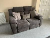2 x 2 seater electric recliners and storage footstool