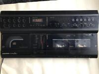 Retro cd & twin cassette player