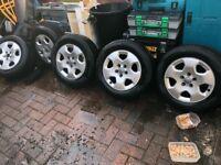 Audi A3 set of 5 alloy wheels 195 65 r15