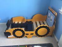 Kids/Child JCB Digger Toddler Bed **REDUCED PRICE**