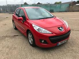 2010 PEUGEOT 207 RED 1.4 PETROL CAT D 42000 MILES 1 YEAR MOT IMMACULATE CONDITION