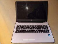 """Hewlett HP Notebook Laptop 15.6"""" - White - Practically new"""