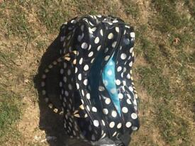 Black spotty changing bag