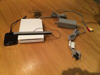 Nintendo Wii with Accessories + hard drive+ over 80 games