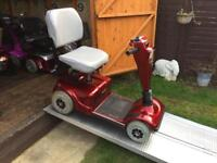 Fast pride celebrity mobility scooter - requires a service but good batteries and working