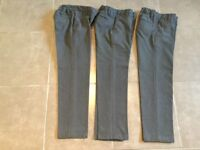 Three pairs of boys grey trousers from Marks and Spencer's-age 7-8 years old.
