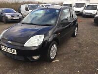 2004 FORD FIESTA BLACK New clutch LEATHER INTERIOR 3 DOOR TINTED WINDOWS ALLOYS CD LEATHER IN BLACK