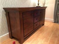 Solid oak sideboard - Mahogany