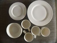 16 PIECE WHITE CHINA DINING SET(METRO) FROM M&S