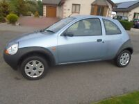 FORD KA PETROL BLUE - 3 DOOR HATCHBACKN 55 PLATE PERFECT FIRST CAR LOW MILES