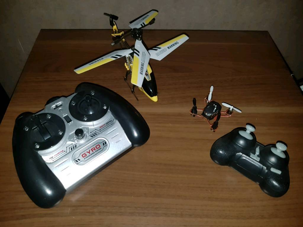 Mini RC helicopter and quadcopter