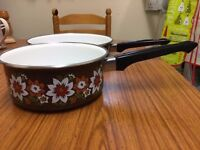 Brand new Ceramic pan set in very good condition only £10