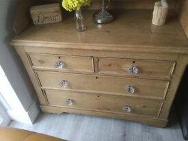 Stunning stripped pine drawers