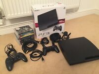 PS3 (Sony Playstation 3) 160GB with 2 controllers and games