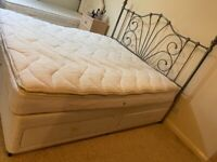Used super king size bed with installed drawers in bed with mattress
