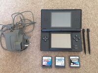 Nintendo DS Lite with 3 games (incl Pokemon Diamond w/all three starting Pokemon)
