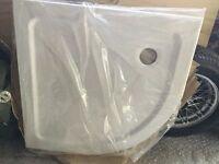 White acrylic shower tray