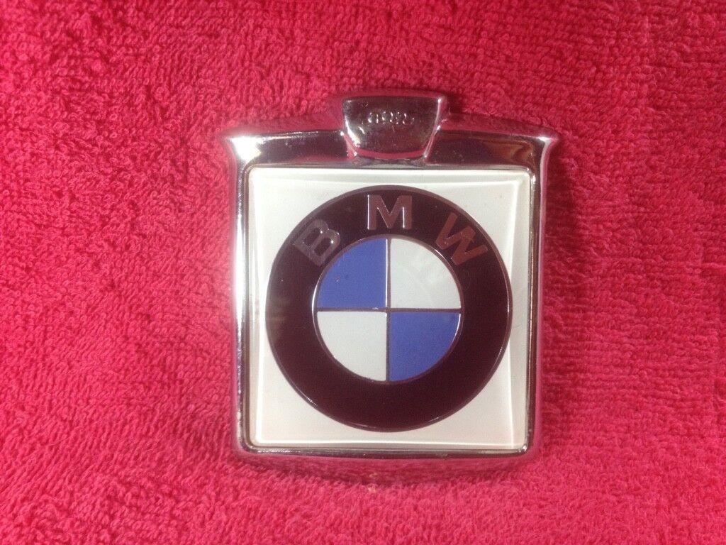 VINTAGE RENAMEL BADGE EMBLEM GRILLE CAR BMW NOS