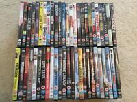 50 DVD's in cases.