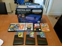 Boxed Nintendo Entertainment System (NES) with 2 games