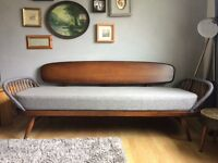 Ercol day bed, new cushions grey