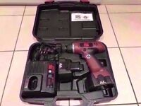 Cordless Hammer Drill with Mains Charger. Carry Case. Faulty Battery