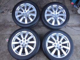 """Porsche Cayenne 958 Sport II Design 20"""" Alloy Wheels with Tyres (Genuine)"""