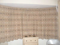 Curtains 90''w x 54'' d lined, coffee colour