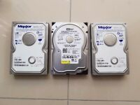 WD SATA 80GB / Maxtor 120GB IDE Hard Drives