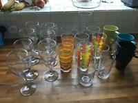 Unsorted glasses, mugs, 26 item