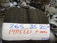 MATCHING PAIR 265 35 20 pirelli p-zeros 6mm tread £100 PAIR SUP & fittd 7dys opn sunday 4pm