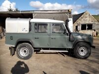 Land Rover Defender 110 Twin Cab. 2008. Green. Many many extras