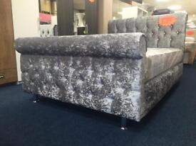 Crush Velvet Bed (Double)