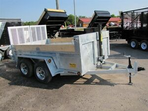 2016 Advantage 3.5 TON 12ft GALVANIZED DUMP TRAILER