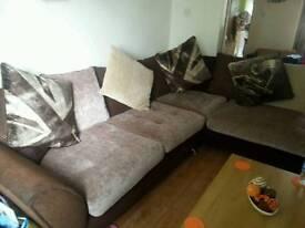 Corner sofa n foot stool