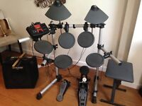 electronic Yamaha DTXPLORER drumkit and Behringer 45 watt amplifier