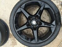 Black Vauxhall Astra alloy wheels