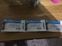3x Ed Sheeran tickets O2 Arena