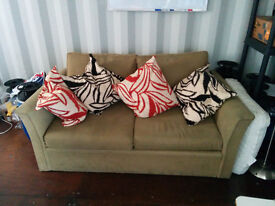 Double sofa-bed with cushions, mattress, etc £90