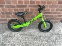 Frog Tadpole 12 inch Balance Bike good condition and fully working