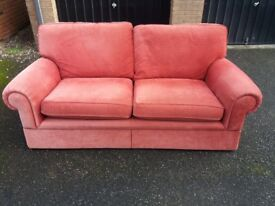 Sofa two/three seater fabric couch, settee (free local delivery)