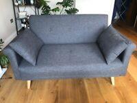 2-seater dark grey sofa in mint condition