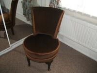 Small Brown Dralon Bedroom Chair